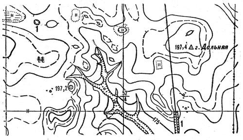 Изображение рельефа местности на карте